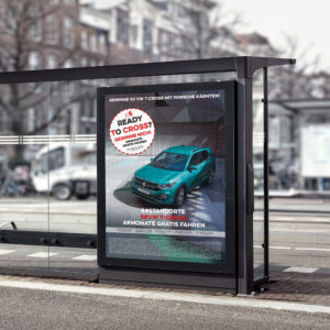 Porsche-St-Veit-T-Cross-VW-Plakat-Magneto-Quadrat