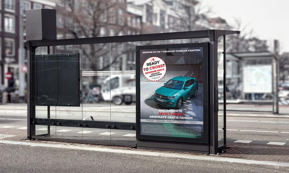 Porsche-St-Veit-T-Cross-VW-Plakat-Magneto-Quer
